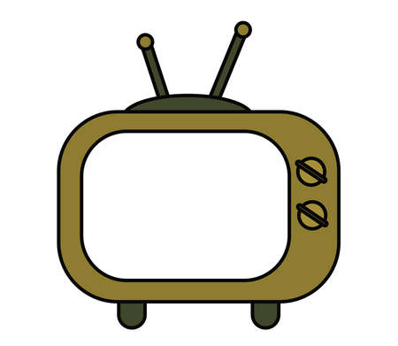 Old blank screen tv. An object. Vector illustration.