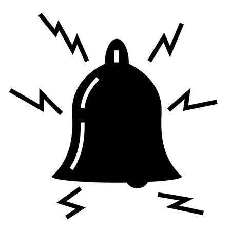 Black bell on a white background. Vector illustration.