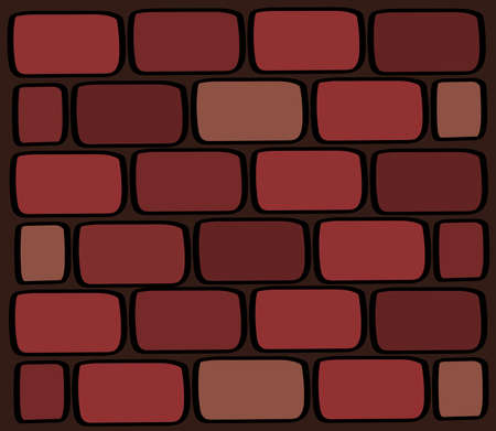Brick wall. Brickwork of multi-colored bricks. Texture. Vector illustration. Archivio Fotografico - 129134731