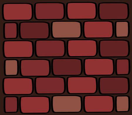 Brick wall. Brickwork of multi-colored bricks. Texture. Vector illustration.