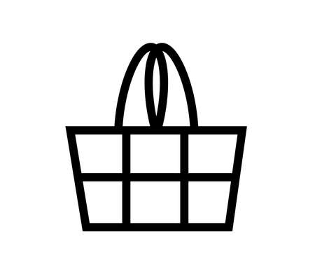 Shopping cart on a white background. Vector illustration.