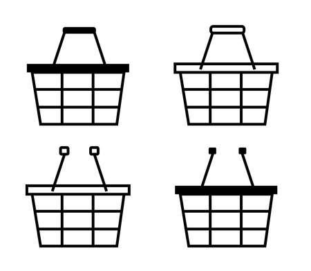 Grocery basket on a white background. Vector illustration. Illustration