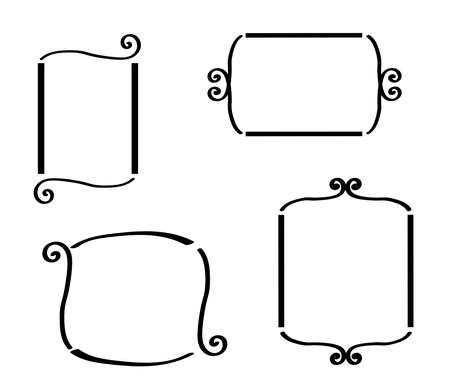 Frames on a white background. Silhouette. Vector illustration.