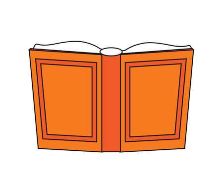 Open book on a white background. Symbol. Vector illustration.