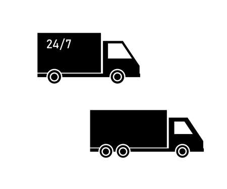 Truck on a white background. Symbol. Vector illustration.