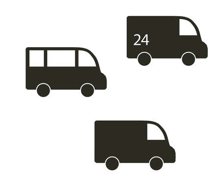 Truck on a white background. Transportation and delivery. Icon. Vector illustration. Ilustração