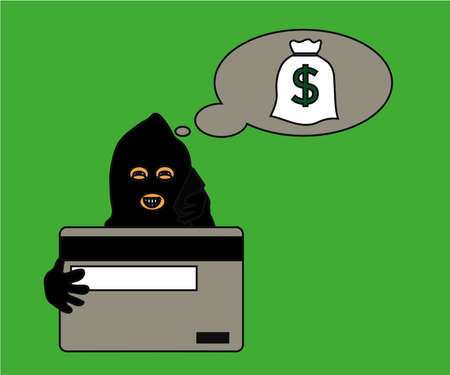 Fraudster is calling on the phone on a white background. Cartoon. Vector illustration.