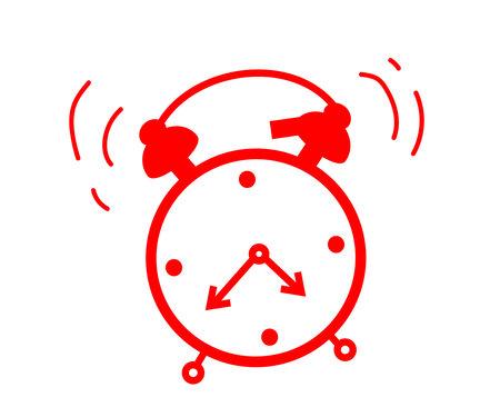 Alarm clock on a white background. Symbol. Vector illustration.