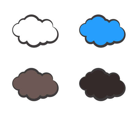 Clouds on a white background. Symbol. Vector illustration.
