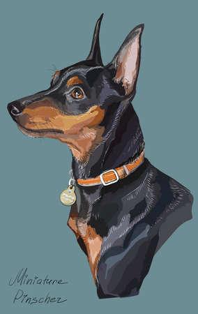 Dog  hand drawing illustration. Vettoriali