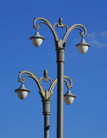 Stock photo-two lanterns on blue sky  Stock Photo