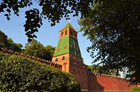 Russia, Moscow, Ancient, Architecture,Tower of Moscow Kremlin. Stock image 에디토리얼
