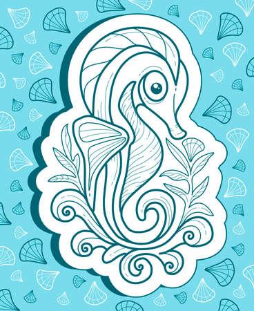caballo de mar: sea ??Horse. vector illustration Vectores