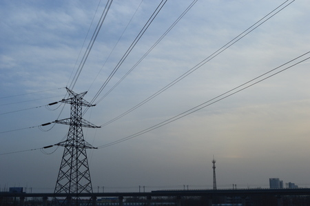 throughout: High voltage  towers