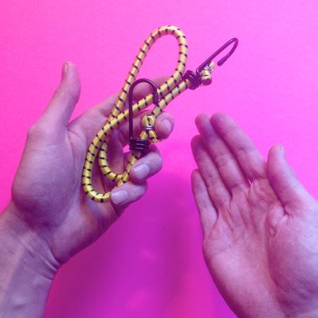 Hand hold bungee Banco de Imagens
