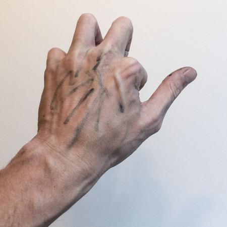 Hand posed