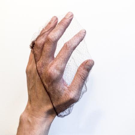 Hand caught in net Stok Fotoğraf