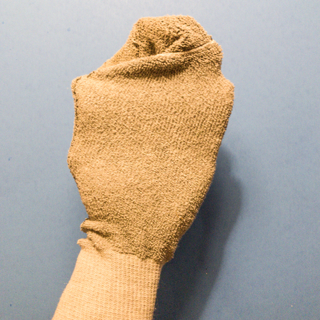 Hand in a sock Stock Photo
