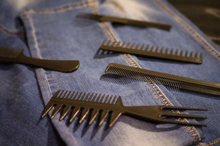 Hairbrushes for styling and haircuts.