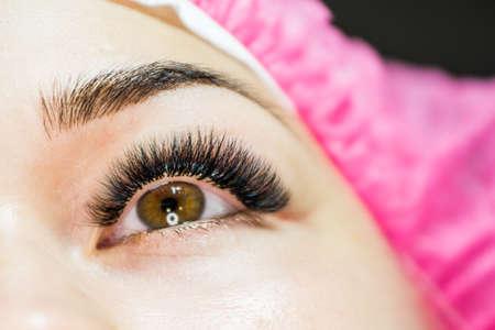 lady's eyelashes closeup photo