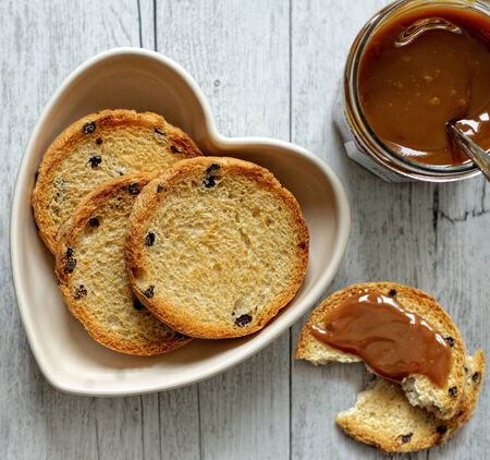 feasting: Rusks with milk jam