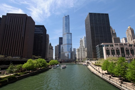 Chicago, United States of America - The Trump International Hotel and Tower and Chicago River