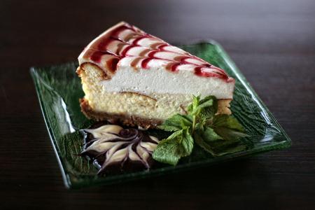 A strawberry cheesecake