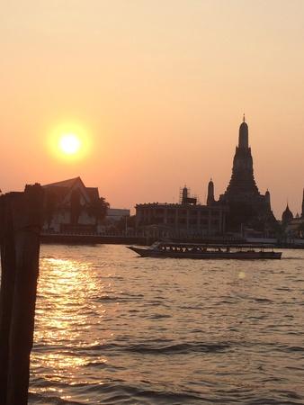 beside: Sunset beside the river