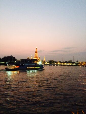 The Thai temple beside the river