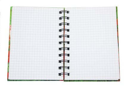 White page in a spiral bound notepad