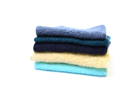 Towels isolated on white background Stock Photo