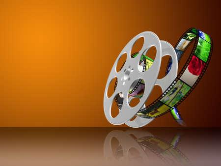 película en 3D Foto de archivo