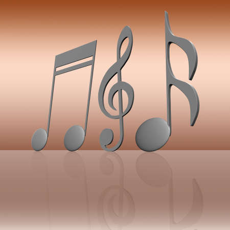 pentagrama musical: nota de la música