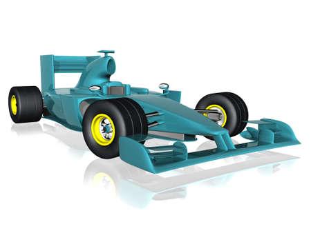 formula car: 3d f1 car Stock Photo