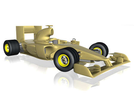 f1: 3d f1 car Stock Photo