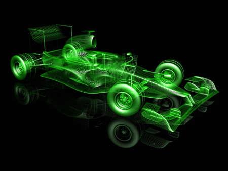 racecar: 3d car