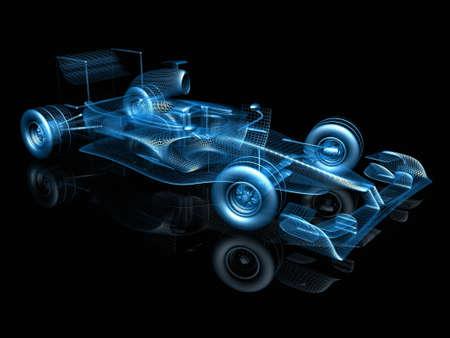 3d f1 car photo