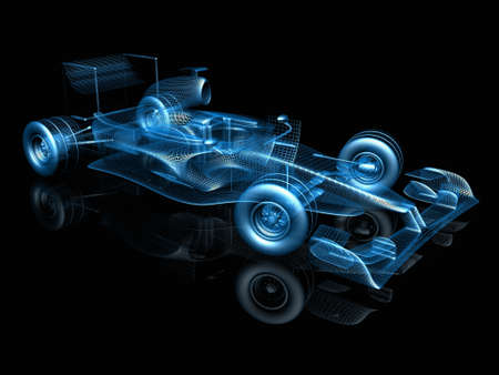 formula one: 3d f1 car Stock Photo
