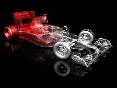red sports car: 3d car