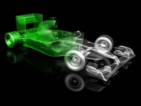 3d f1 car Stock Photo - 13919817