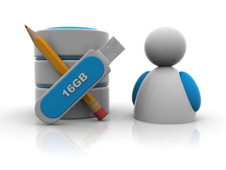 data base: 3d men and education Stock Photo