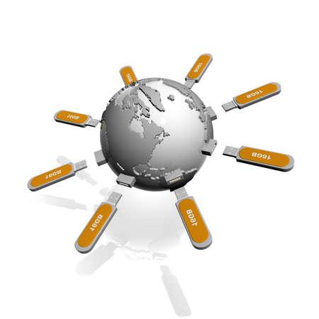 megabyte: flash drive Stock Photo