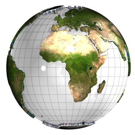 east africa: 3d earth globe Stock Photo