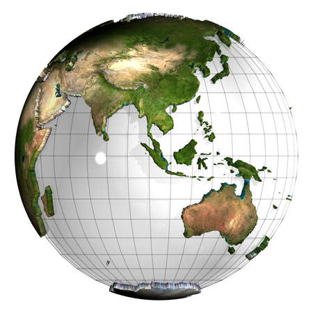 3d earth globe Stock Photo