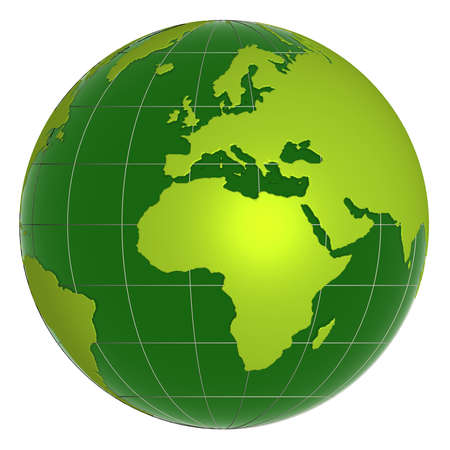 green earth: 3d earth globe Stock Photo