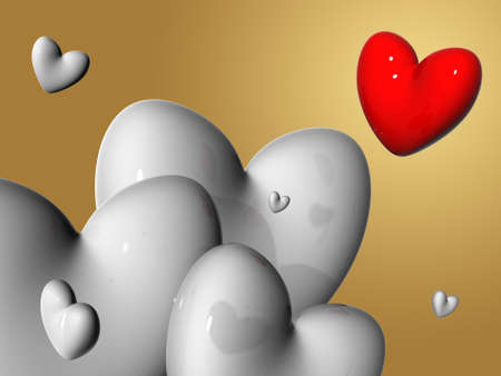 3d hearts photo