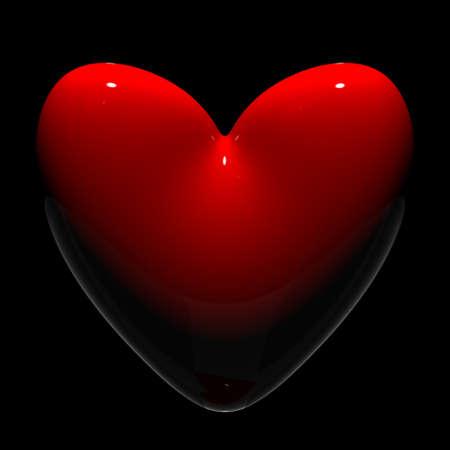 emblem red: 3d hearts