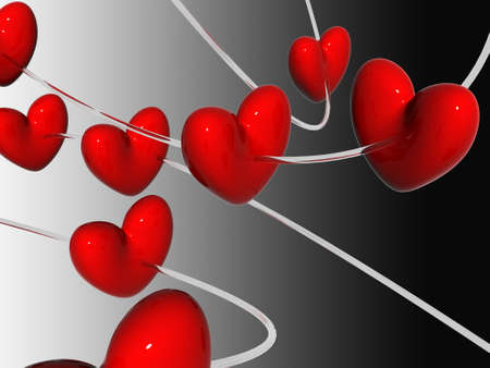 enamoured: 3d hearts