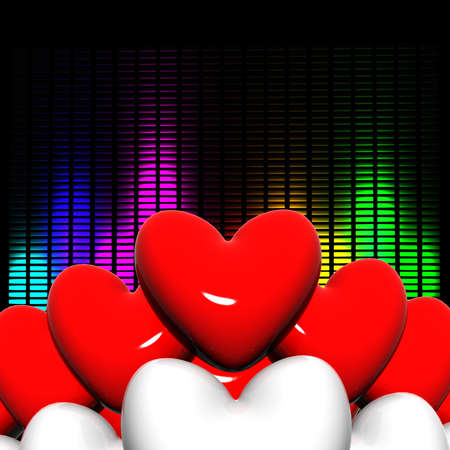 3d hearts Stock Photo - 13878781