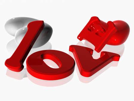 fondness: 3d hearts